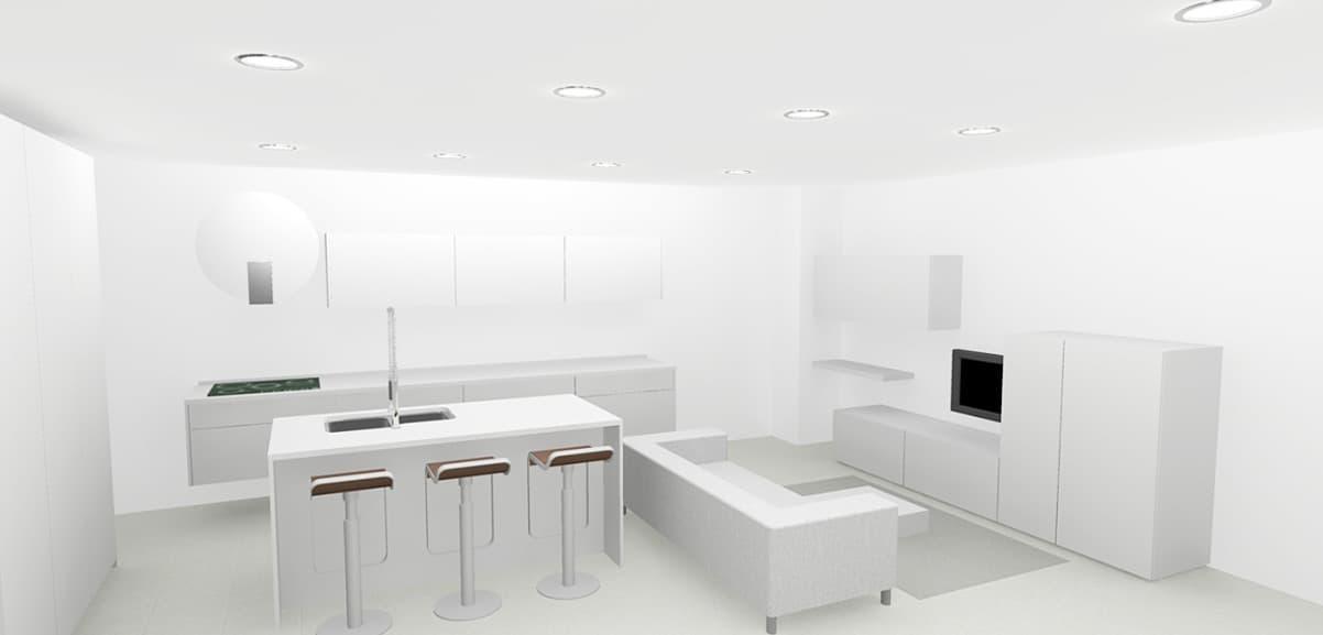 Cocinas estilo minimalista vangarda en cambre for Muebles estilo minimalista