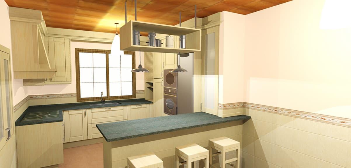 Cocinas estilo r stico vangarda en cambre for Cocinas estilo rustico